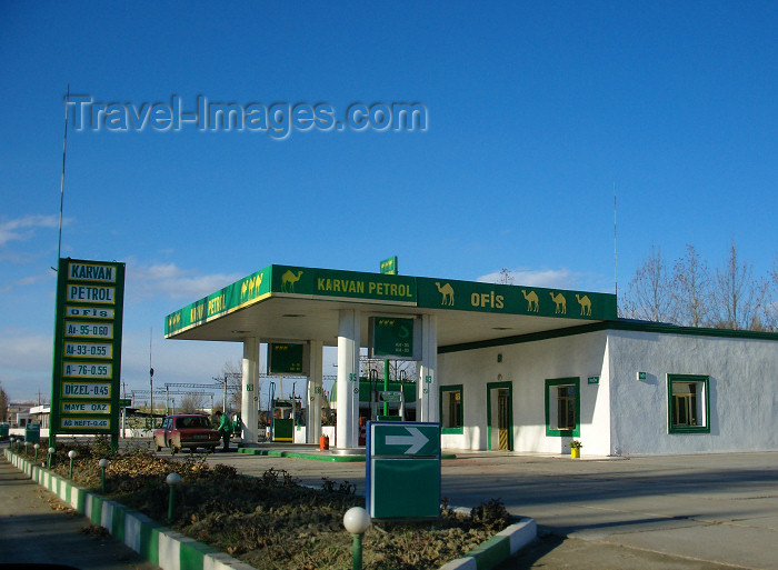azer564: Mingechaur / Mingechevir - Azerbaijan: petrol station - Karvan petrol - photo by N.Mahmudova - (c) Travel-Images.com - Stock Photography agency - Image Bank
