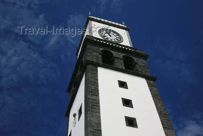 azores176: Azores / Açores - São Miguel - Ponta Delgada: São Sebastião church - bell tower / torre da igreja de São Sebastião - Igreja Matriz de Ponta Delgada - photo by A.Stepanenko - (c) Travel-Images.com - Stock Photography agency - Image Bank