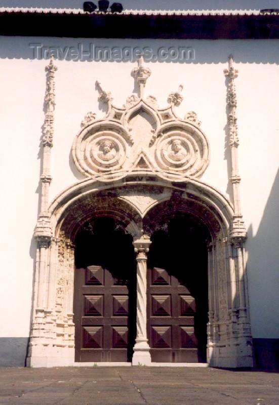 azores19: Azores - Ponta Delgada: St Sebastian church - side entrance / Entrada lateral da Igreja Matriz - estilo Manuelino - photo by M.Torres - (c) Travel-Images.com - Stock Photography agency - Image Bank
