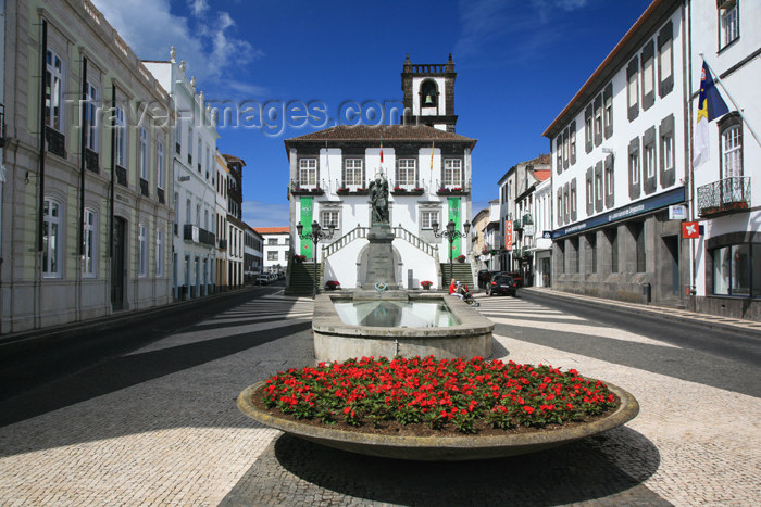 azores7: Azores - Portugal - Sao Miguel - Ponta Delgada: Câmara Municipal e a Praça da República / City Hall and Republic's sq. - photo by A.Stepanenko - (c) Travel-Images.com - Stock Photography agency - Image Bank