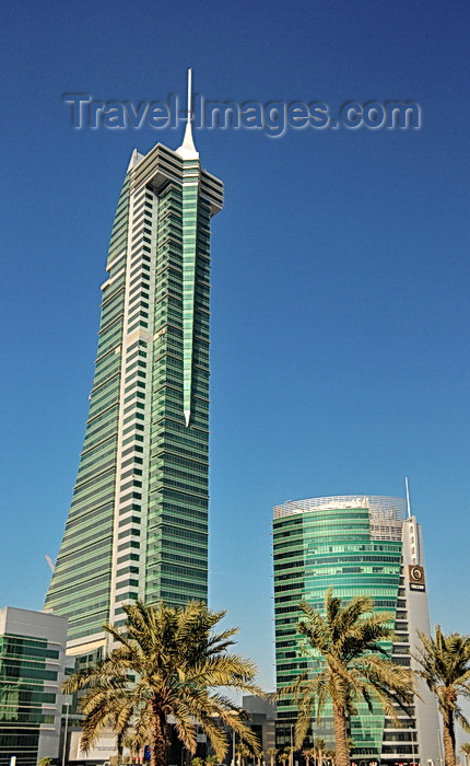 bahrain39: Manama, Bahrain: Bahrain Financial Harbour towers - BFH - Commercial East tower and GB Corp tower, aka BIIC building (Bahrain International Insurance Centre) - photo by M.Torres - (c) Travel-Images.com - Stock Photography agency - Image Bank
