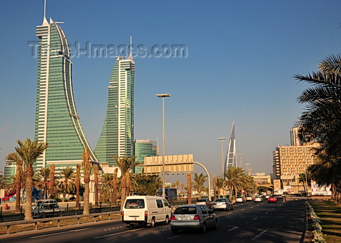 bahrain51: Manama, Bahrain: Bahrain Financial Harbour towers - BFH - looking east on King Faisal Highway - photo by M.Torres - (c) Travel-Images.com - Stock Photography agency - Image Bank