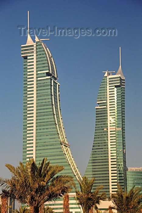 bahrain52: Manama, Bahrain: Bahrain Financial Harbour towers - BFH - Commercial East and Commercial West twin-towers - 53 floors and 260 meters tall - photo by M.Torres - (c) Travel-Images.com - Stock Photography agency - Image Bank