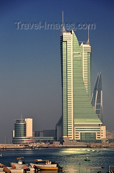 bahrain58: Manama, Bahrain: Bahrain Financial Harbour towers commercial complex - BFH - view from the fishing harbour - Bahrain WTC on the right and Harbour House on the left - photo by M.Torres - (c) Travel-Images.com - Stock Photography agency - Image Bank