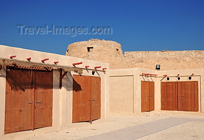 bahrain79: Arad, Muharraq Island, Bahrain: Arad market cubicles and Arad Fort - photo by M.Torres - (c) Travel-Images.com - Stock Photography agency - Image Bank