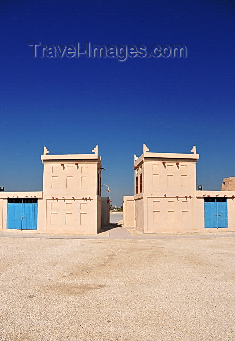 bahrain81: Arad, Muharraq Island, Bahrain: market facilities with Arad Fort behind - photo by M.Torres - (c) Travel-Images.com - Stock Photography agency - Image Bank