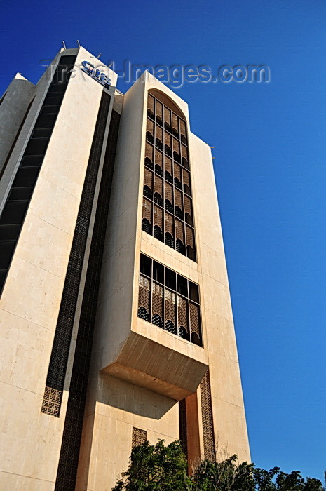bahrain84: Manama, Bahrain: GIB tower with traditional Arabian peninsula balconies (Mashrabiya or Shanasheel) - Gulf International Bank - photo by M.Torres - (c) Travel-Images.com - Stock Photography agency - Image Bank