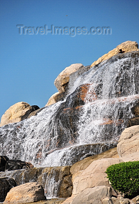bahrain9: Muharraq, Muharraq Island, Bahrain: artificial waterfalls on Al Hidd Highway - oil makes everything possible in the desert - photo by M.Torres - (c) Travel-Images.com - Stock Photography agency - Image Bank