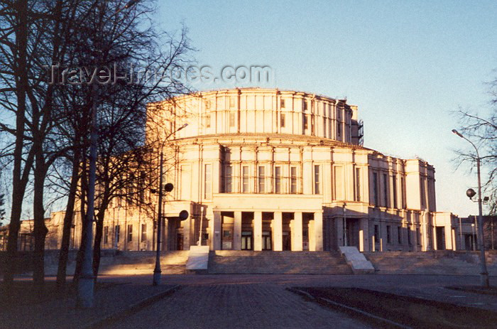 belarus10: Belarus - Minsk: the Opera house - Belarusian State Theater of Opera and Ballet - architect Iosif Langbard - Soviet architecture - photo by Miguel Torres - (c) Travel-Images.com - Stock Photography agency - Image Bank