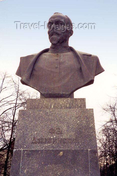belarus3: Belarus - Minsk: Felix Dzerzhinsky - Communist revolutionary, founder of the Cheka, later KGB - bust (photo by Miguel Torres) - (c) Travel-Images.com - Stock Photography agency - Image Bank