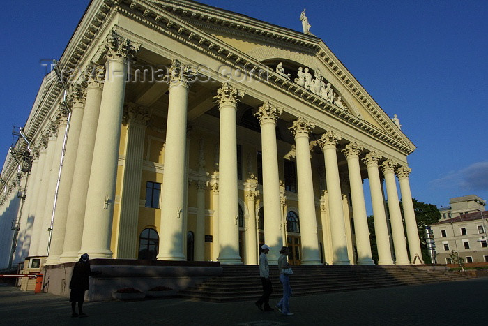 belarus31: Belarus - Minsk: classical Greek - Trade Union's Culture Palace - Independence Avenue (photo by A.Stepanenko) - (c) Travel-Images.com - Stock Photography agency - Image Bank