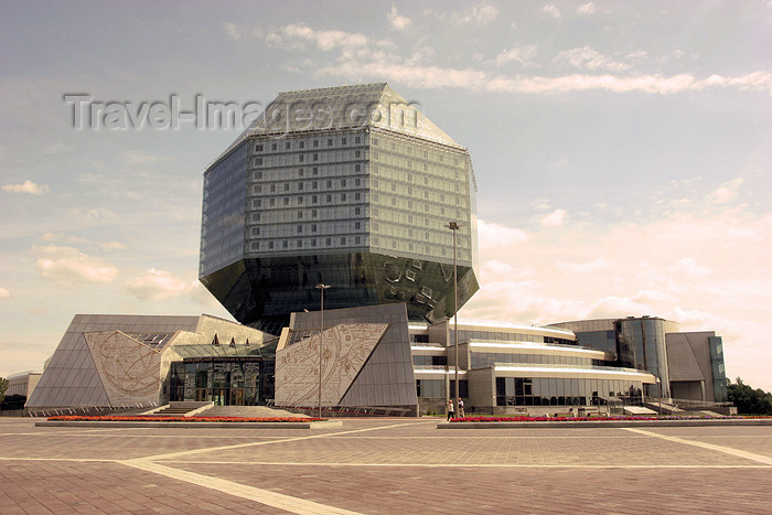 belarus45: Belarus - Minsk - National Library of Belarus architects M. Vinogradov, V. Kramorenk  - modern architecture - Independence Avenue - photo by A.Stepanenko - (c) Travel-Images.com - Stock Photography agency - Image Bank