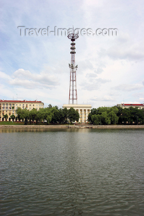 belarus46: Belarus - Minsk - National Radio house and its antenna - photo by A.Stepanenko - (c) Travel-Images.com - Stock Photography agency - Image Bank