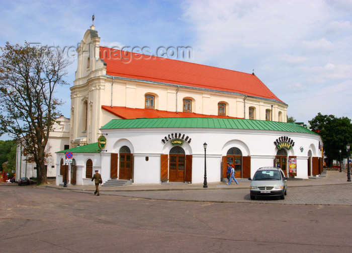 belarus47: Belarus - Minsk - Old town - church and restaurant - Catholic church of St. Joseph and Bernardine Monastery, now an archive - photo by A.Dnieprowsky - (c) Travel-Images.com - Stock Photography agency - Image Bank