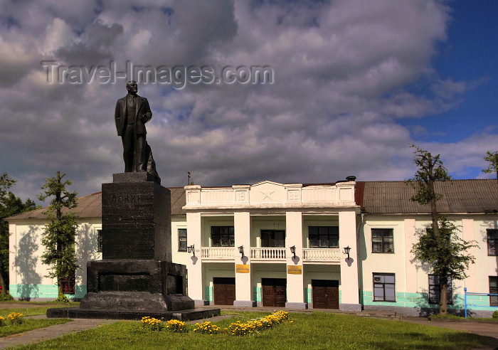 belarus59: Belarus - Mogilev - Lenin and Culture house - photo by A.Dnieprowsky - (c) Travel-Images.com - Stock Photography agency - Image Bank
