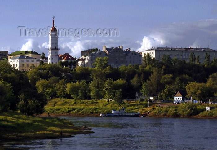 belarus71: Mogilev, Mahilyow Voblast, Belarus: Dnieper river and town hall tower - photo by A.Dnieprowsky - (c) Travel-Images.com - Stock Photography agency - Image Bank