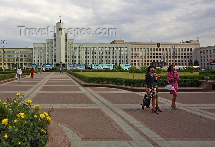 belarus75: Minsk, Belarus: Independence Sq. - Belarusian State University
