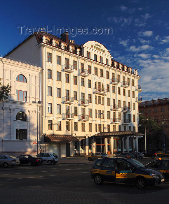 belarus82: Minsk, Belarus: Hotel Europe - intersection of Internatsionalnaya and Lenin streets - photo by A.Dnieprowsky - (c) Travel-Images.com - Stock Photography agency - Image Bank
