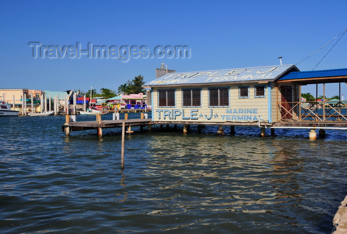 belize110: Belize City, Belize: mouth of Haulover Creek - Triple J 'marine terminal' - Water taxi and services to Caye Caulker and San Pedro - photo by M.Torres - (c) Travel-Images.com - Stock Photography agency - Image Bank