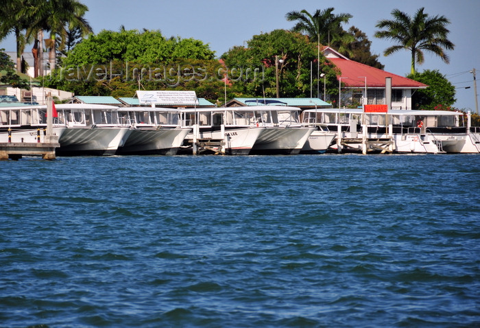 belize120: Belize City, Belize: idle tour boats - Belize City Tourism Village - photo by M.Torres - (c) Travel-Images.com - Stock Photography agency - Image Bank