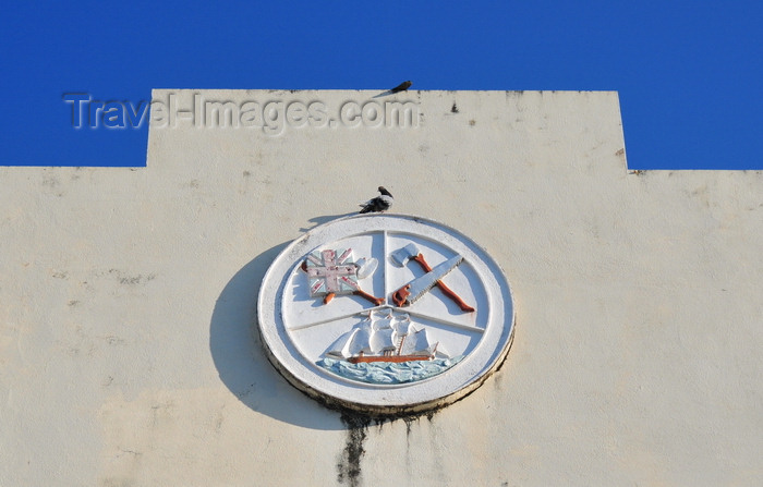 belize125: Belize City, Belize: City Hall - municipal coat of arms - photo by M.Torres - (c) Travel-Images.com - Stock Photography agency - Image Bank