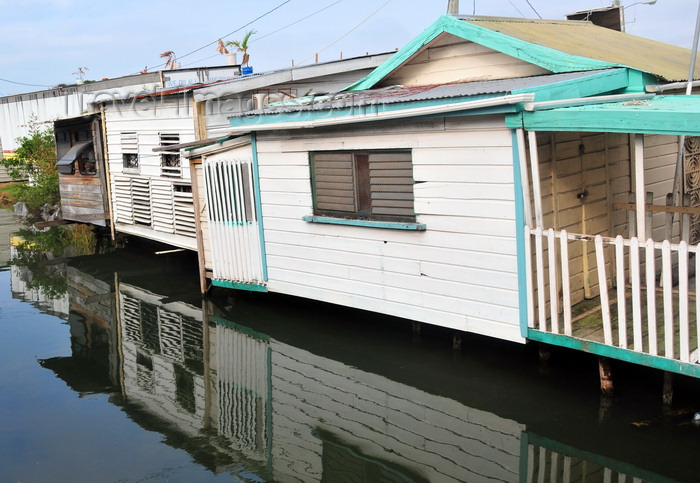 belize143: Belize City, Belize: houses hanging over the Southside Canal - West Canal St. - photo by M.Torres - (c) Travel-Images.com - Stock Photography agency - Image Bank