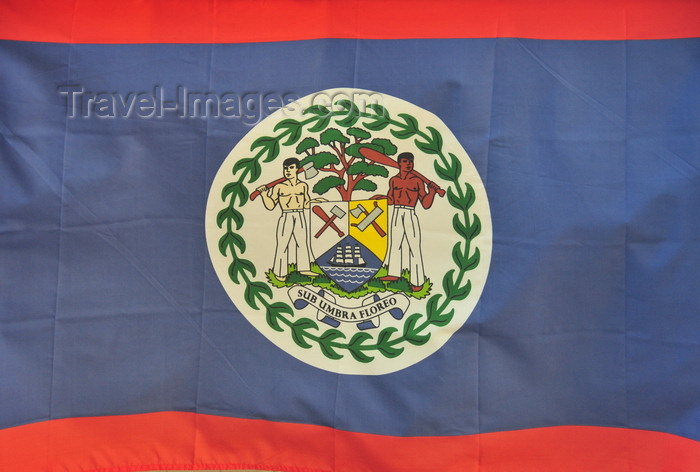 belize151: Belize City, Belize: Belizean flag - photo by M.Torres - (c) Travel-Images.com - Stock Photography agency - Image Bank