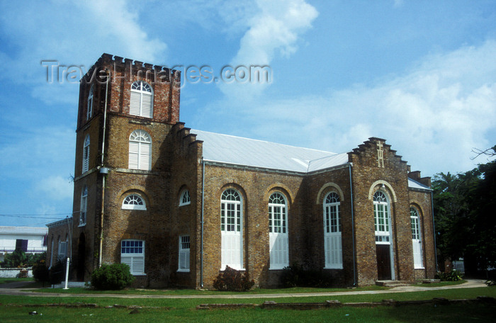 belize16: Belize City: built using bricks brought from England as ship's ballast, St. John's Cathedral is the oldest building in Belize and the oldest Anglican Church in Central America - Albert Street - photo by D.Forman - (c) Travel-Images.com - Stock Photography agency - Image Bank