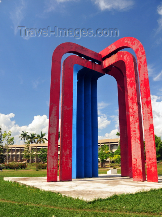 belize20: Belmopan, Cayo, Belize: Belize-Mexican Monument and government offices - photo by M.Torres - (c) Travel-Images.com - Stock Photography agency - Image Bank