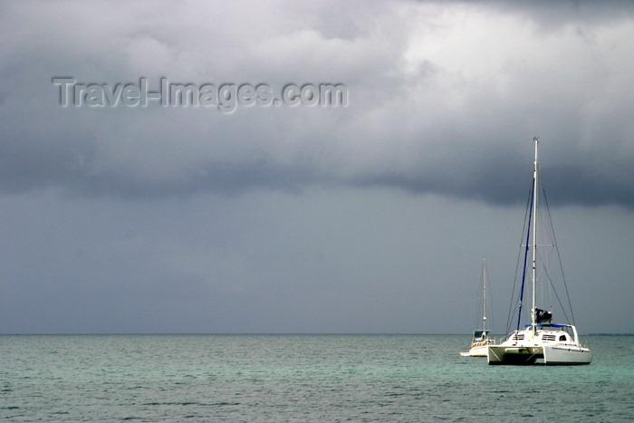belize25: Belize - Placencia peninsula, Stann Creek District: catamaran at Sea - Caribbean sea - mar das caraibas - photo by C.Palacio - (c) Travel-Images.com - Stock Photography agency - Image Bank