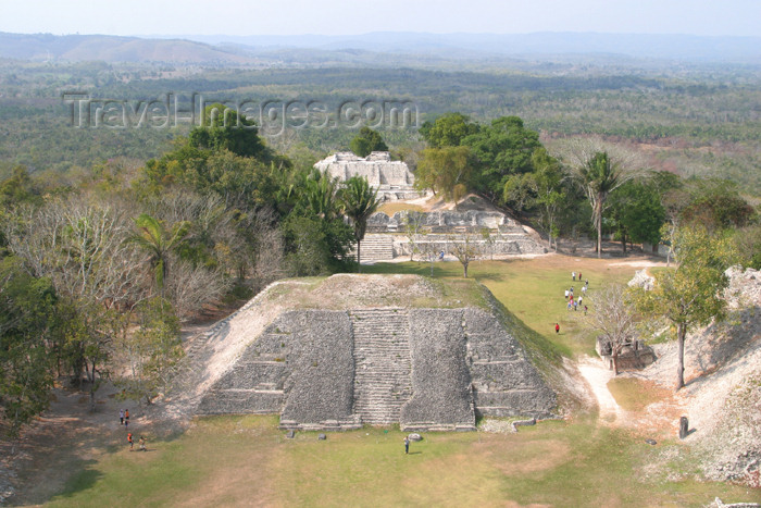 belize42: Belize - Xunantinich, Cayo district: classical Mayan pyramids - main plaza, view from 'El Castillo', the tallest structure - ruinas maias - photo by C.Palacio - (c) Travel-Images.com - Stock Photography agency - Image Bank