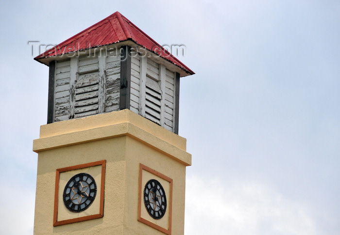 belize63: San Ignacio, Cayo, Belize: clock tower at the District Commissioner - photo by M.Torres - (c) Travel-Images.com - Stock Photography agency - Image Bank