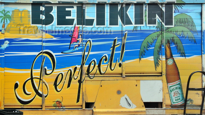 belize65: San Ignacio, Cayo, Belize: Belikin beer is available everywhere - truck side - photo by M.Torres - (c) Travel-Images.com - Stock Photography agency - Image Bank