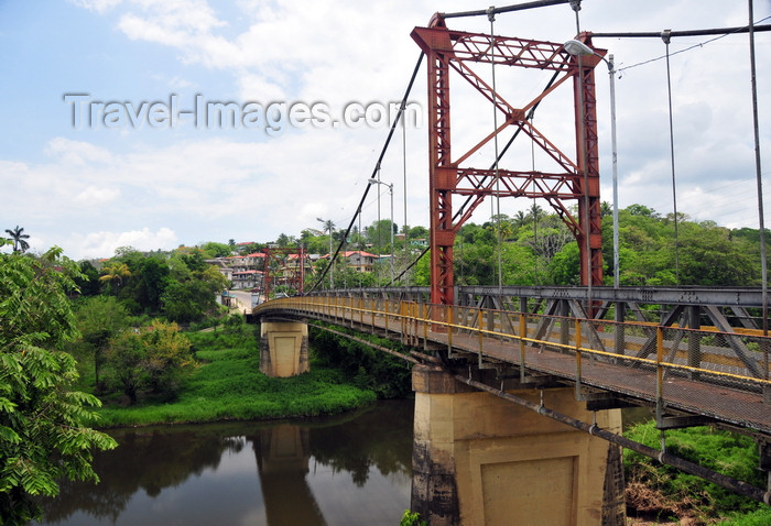 belize96: San Ignacio, Cayo, Belize: Hawksworth Bridge - Macal River and Santa Helena on the opposite bank - photo by M.Torres - (c) Travel-Images.com - Stock Photography agency - Image Bank