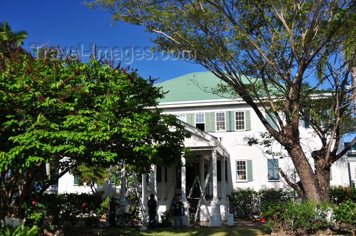 belize97: Belize City, Belize: Government House - House of Culture - combination of Caribbean Vernacular and English Urban architecture - photo by M.Torres - (c) Travel-Images.com - Stock Photography agency - Image Bank