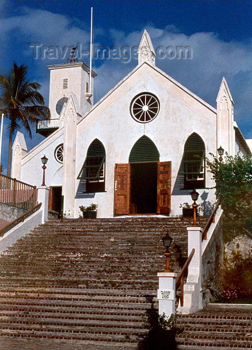 bermuda1: Bermuda - St. George: St Peter's Church, the oldest continually used Anglican church in the Western hemisphere - Historic Town of St George - Unesco world heritage site - photo by G.Frysinger - (c) Travel-Images.com - Stock Photography agency - Image Bank