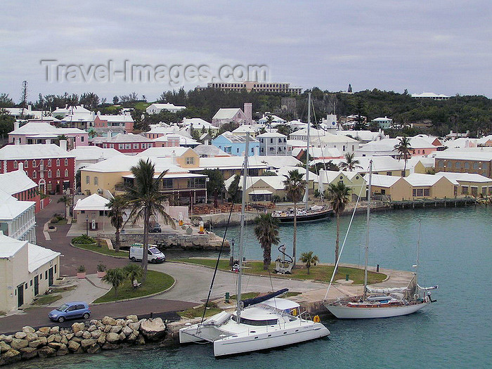 bermuda17: Bermuda - St. George: view of the harbour - photo by Captain Peter - (c) Travel-Images.com - Stock Photography agency - Image Bank