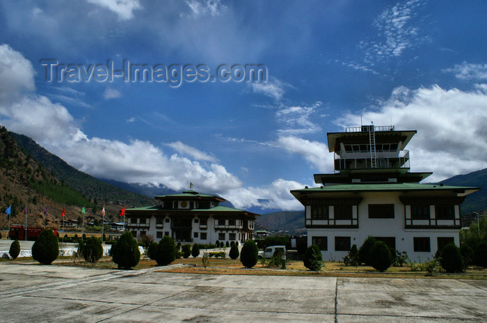 bhutan100: Bhutan - Paro: Paro airport - PBH - control tower - photo by A.Ferrari - (c) Travel-Images.com - Stock Photography agency - Image Bank
