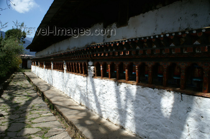 bhutan104: Bhutan - Paro dzongkhag - Prayer wheels in Kyichu Lhakhang - photo by A.Ferrari - (c) Travel-Images.com - Stock Photography agency - Image Bank