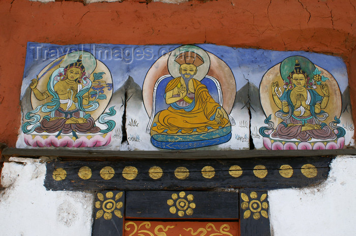 bhutan105: Bhutan - Paro dzongkhag - old religious paintings in Kyichu Lhakhang, near Paro - photo by A.Ferrari - (c) Travel-Images.com - Stock Photography agency - Image Bank