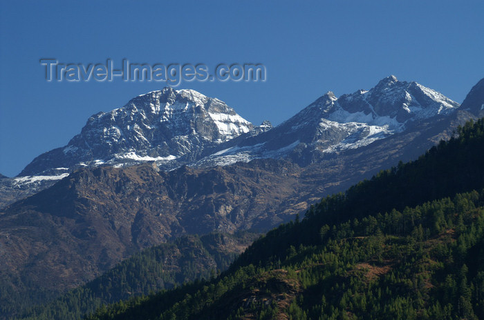 bhutan112: Bhutan - Paro dzongkhag - Himalaya peaks, seen from the Drukgyel village - photo by A.Ferrari - (c) Travel-Images.com - Stock Photography agency - Image Bank