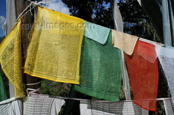 bhutan123: Bhutan - Paro dzongkhag - prayer flags, on the way to Taktshang Goemba - photo by A.Ferrari - (c) Travel-Images.com - Stock Photography agency - Image Bank
