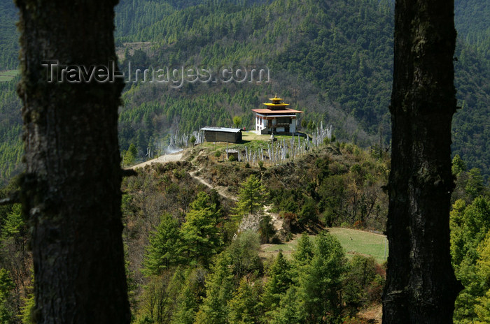 bhutan152: Bhutan - small temple, on the road to the Haa valley - photo by A.Ferrari - (c) Travel-Images.com - Stock Photography agency - Image Bank
