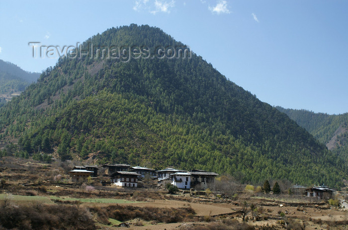 bhutan158: Bhutan - large hill, near Haa - photo by A.Ferrari - (c) Travel-Images.com - Stock Photography agency - Image Bank