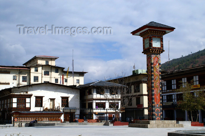 bhutan171: Bhutan - Thimphu - Clock Tower Square - city center - photo by A.Ferrari - (c) Travel-Images.com - Stock Photography agency - Image Bank