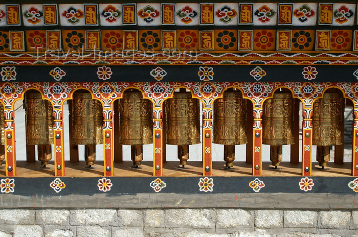 bhutan172: Bhutan - Thimphu - Prayer wheels - city center - photo by A.Ferrari - (c) Travel-Images.com - Stock Photography agency - Image Bank