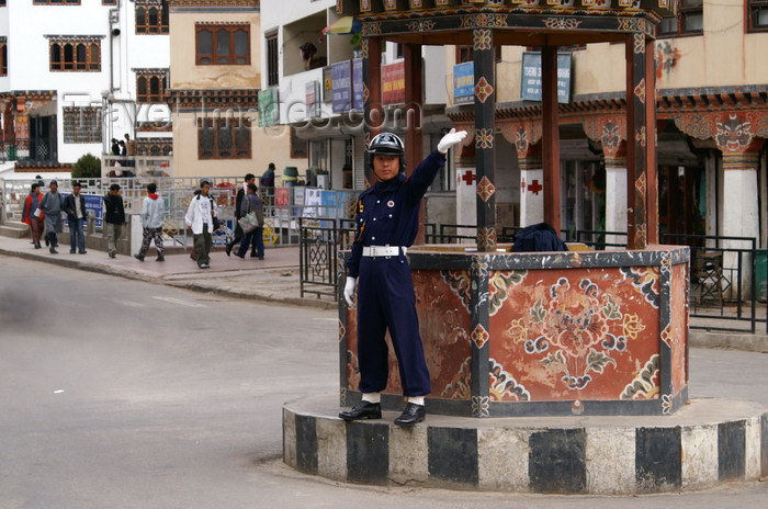 bhutan178: Bhutan - Thimphu - Traffic police - photo by A.Ferrari - (c) Travel-Images.com - Stock Photography agency - Image Bank