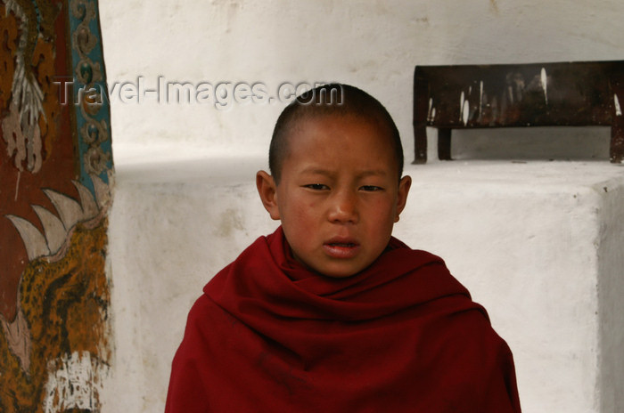 bhutan195: Bhutan - Thimphu - young monk, in the National Memorial Chorten - photo by A.Ferrari - (c) Travel-Images.com - Stock Photography agency - Image Bank