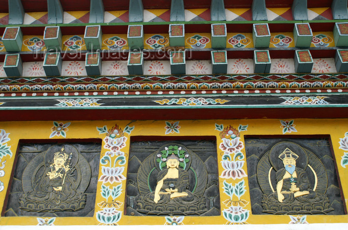bhutan196: Bhutan - Thimphu - Buddhist symbols and figures, in the National Memorial Chorten - photo by A.Ferrari - (c) Travel-Images.com - Stock Photography agency - Image Bank