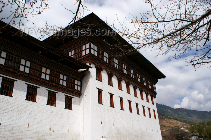 bhutan201: Bhutan - Thimphu - Trashi Chhoe Dzong - tower - photo by A.Ferrari - (c) Travel-Images.com - Stock Photography agency - Image Bank
